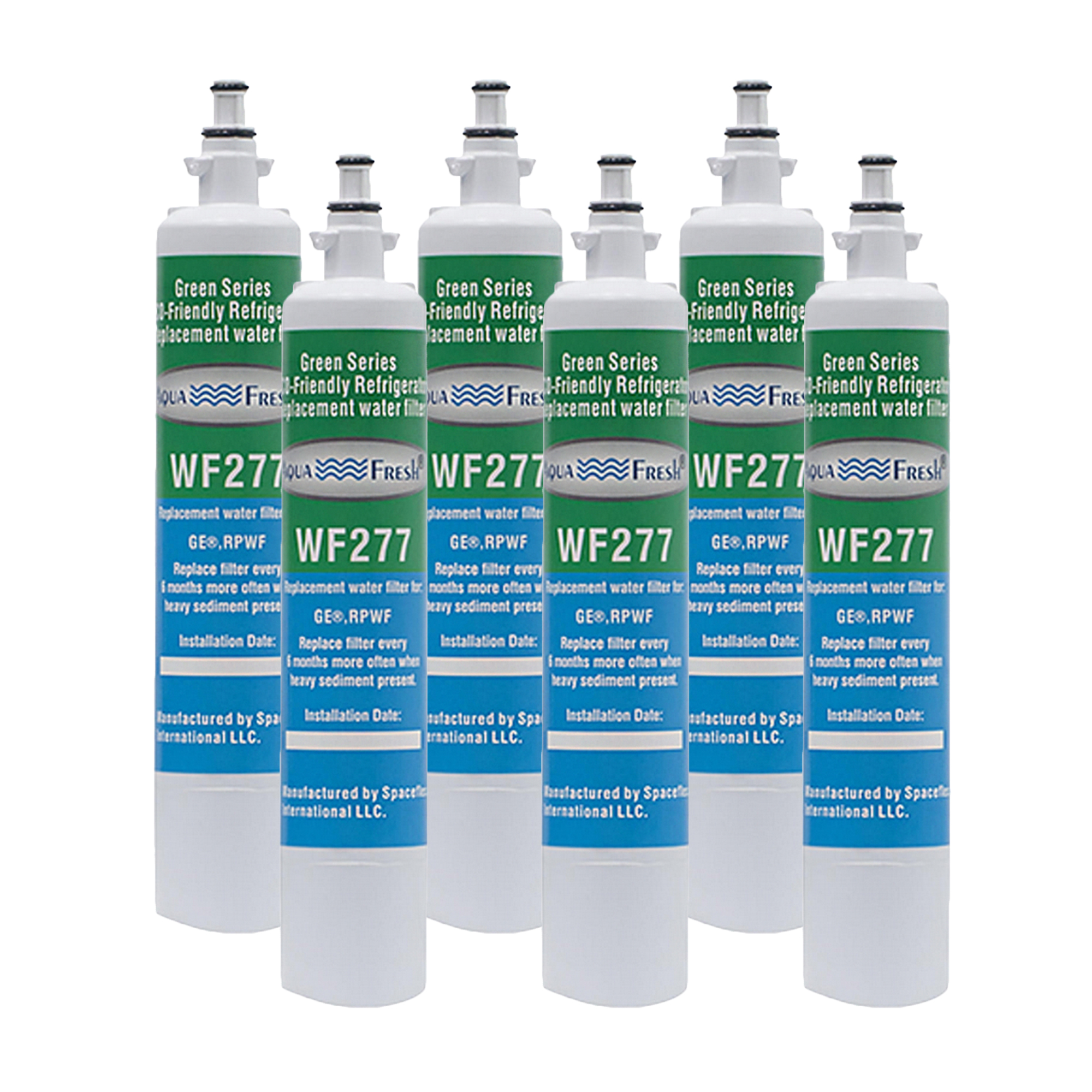 Fits GE Appliance FQK1K Refrigerators 6 Pack Aqua Fresh Water Filter
