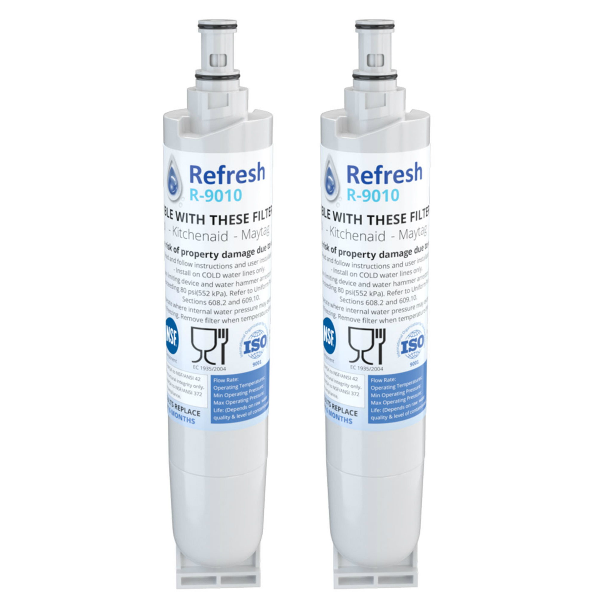 3 Pack Refresh Replacement Water Filter Fits Kenmore 469010 Refrigerators